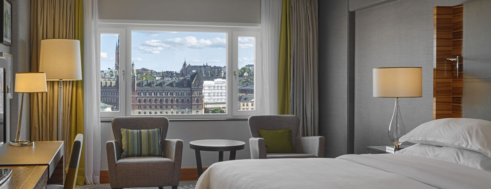 Many of our Club Rooms offers stunning views of the Stockholm Old Town.