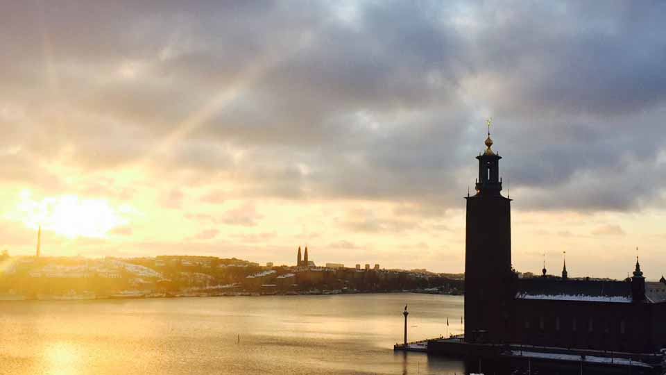 A favourite view over City Hall from Sheraton Stockholm